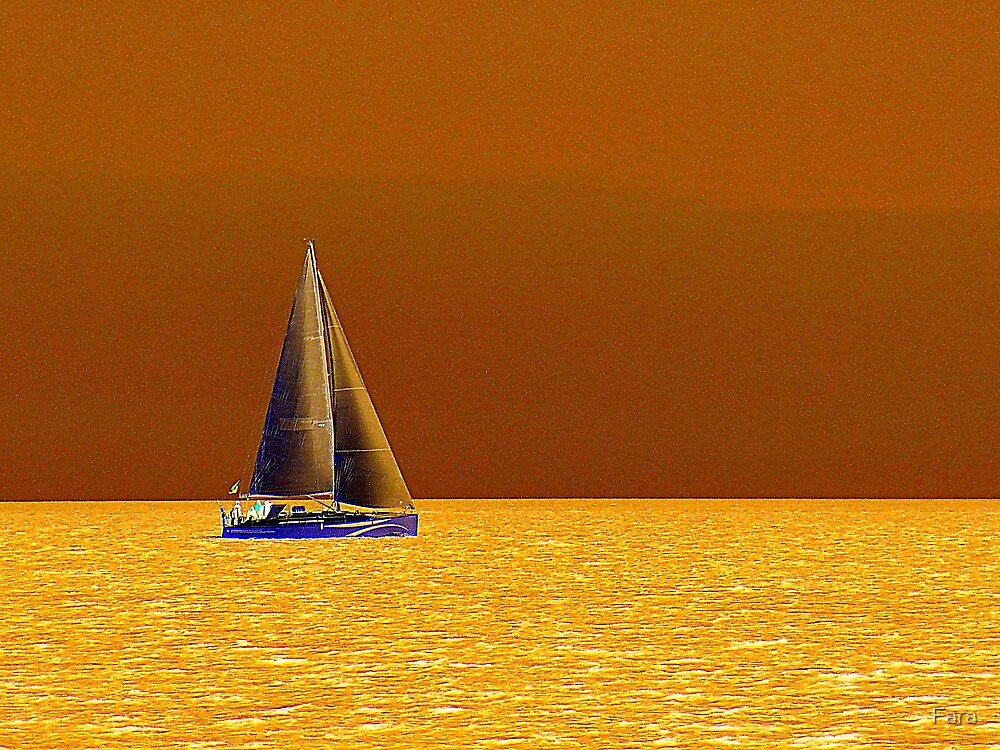 Quot Sailing On The Yellow Sea Quot By Fara Redbubble