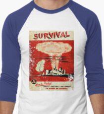 Survival nuclear 1950's Vintage T-shirt Men's Baseball ¾ T-Shirt