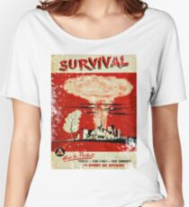 Survival nuclear 1950's Vintage T-shirt Women's Relaxed Fit T-Shirt