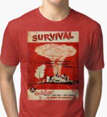 Survival nuclear 1950's Vintage T-shirt Tri-blend T-Shirt