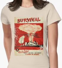 Survival nuclear 1950's Vintage T-shirt Women's Fitted T-Shirt