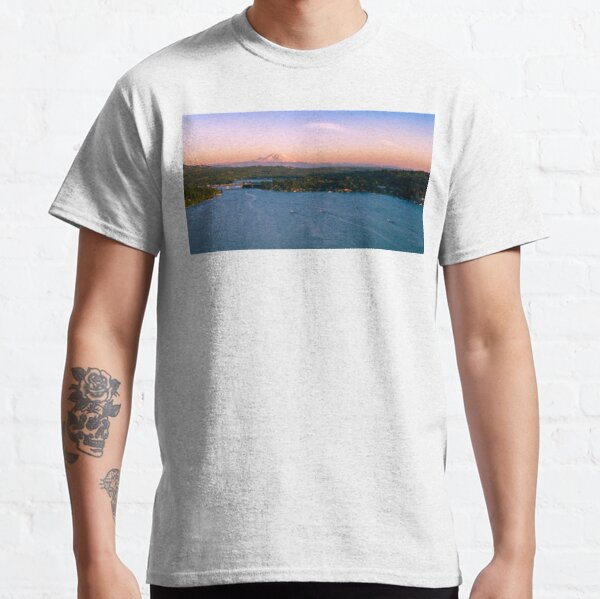 Mercer Island / Mt Rainier Sunset 001 Classic T-Shirt
