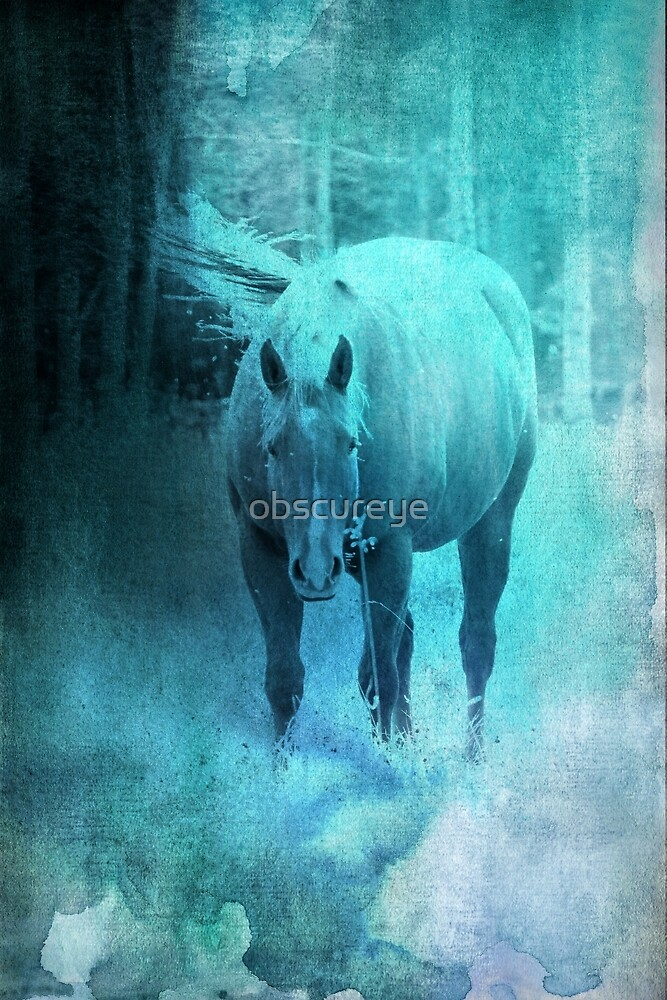 Water Colour Horse  by obscureye