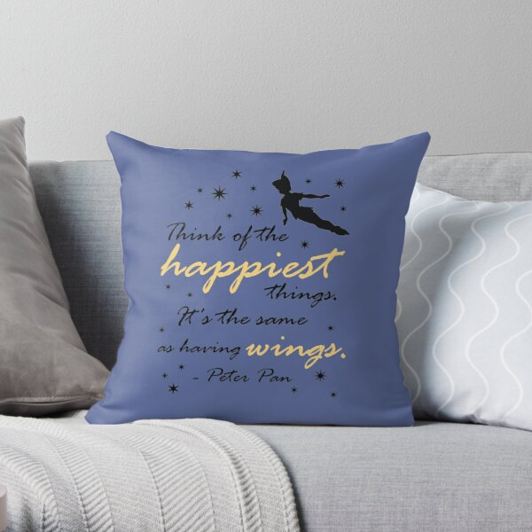 Think Of The Happiest Things Throw Pillow