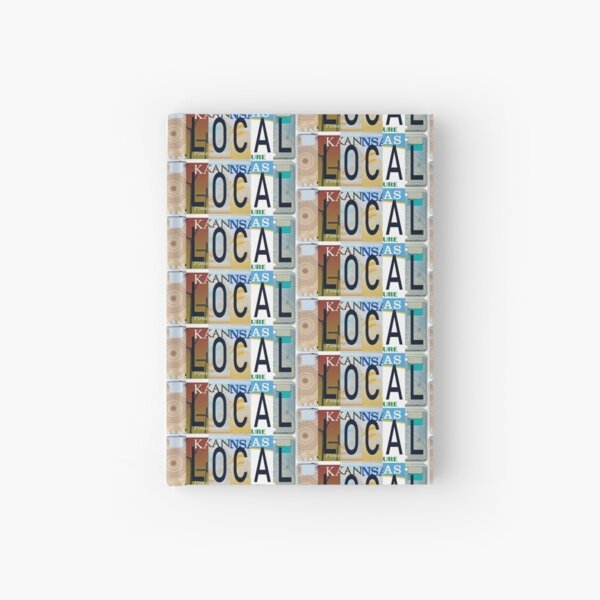 Kansas Local, License Plates  Hardcover Journal