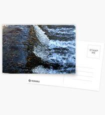 Rushing water of the waterfall Postkarten