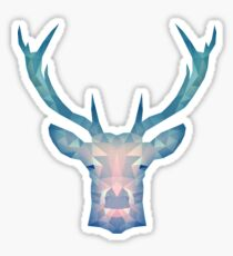 Blue Deer Sticker