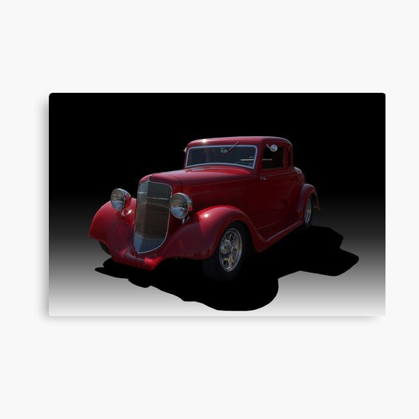 1934 Ford 5 Window Coupe Hot Rod Canvas Print