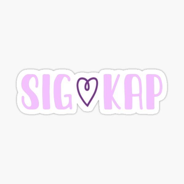 heart sig kap Sticker