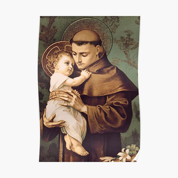 St Anthony of Padua Poster