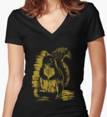 Gold Squirrel Women's Fitted V-Neck T-Shirt