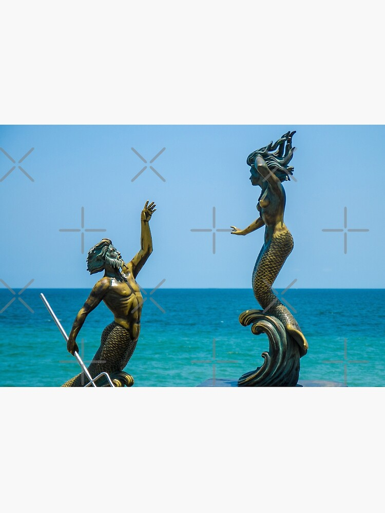 Triton and Mermaid by wanderingfools
