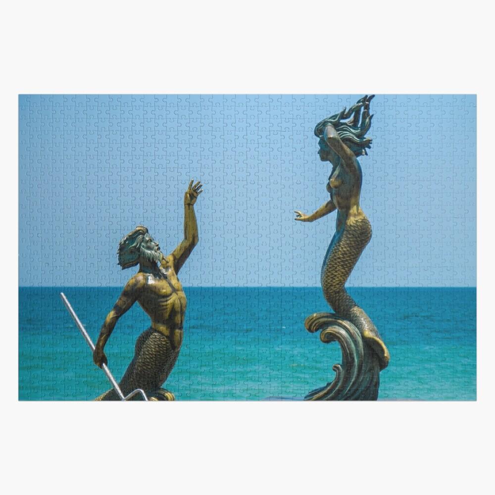 Triton and Mermaid Jigsaw Puzzle