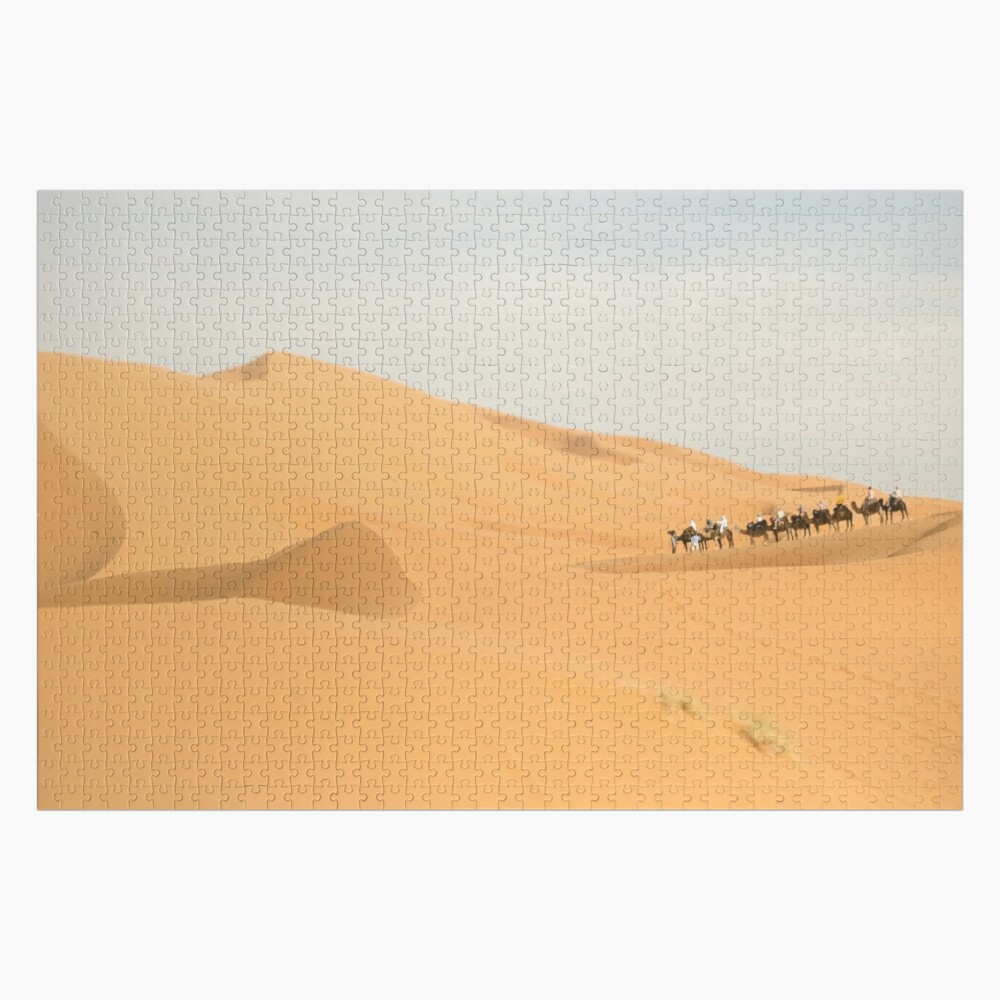 Camel Caravan in the Sahara Desert, Morocco Jigsaw Puzzle
