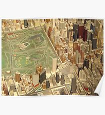 Central Park South, New York City Panorama, Scale Model of New York City, Queens Museum, Queens, New York  Poster