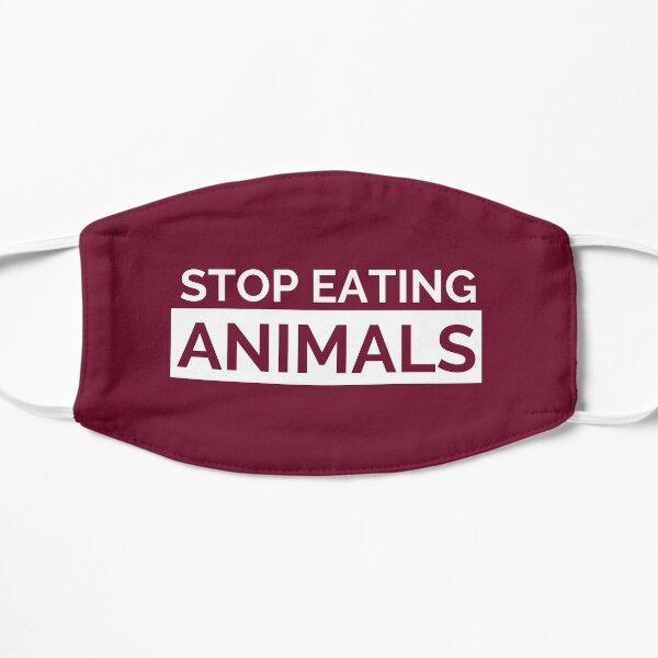 Maroon Stop Eating Animals Vegan Face Mask Mask