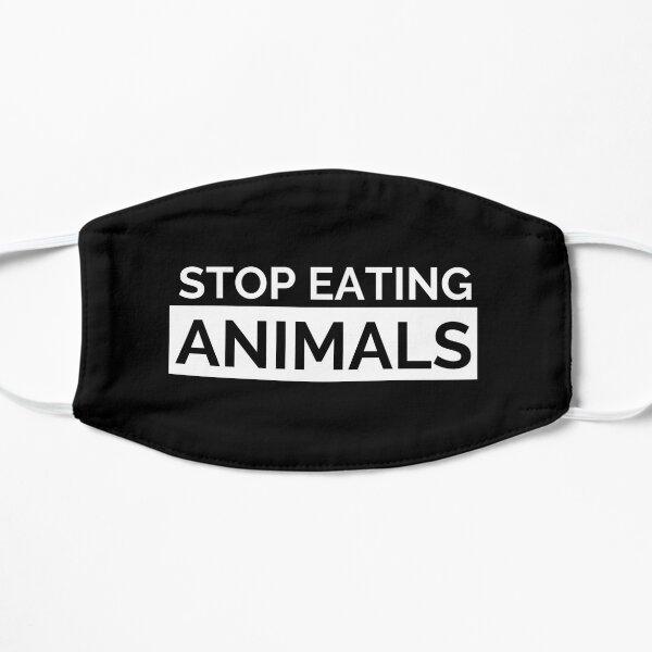 Black Stop Eating Animals Face Mask Mask