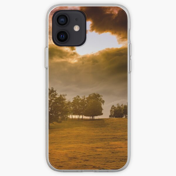 Dark landscape, stormy sky iPhone Soft Case