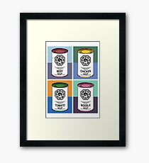 Dharma Initiative Soup Cans Framed Print