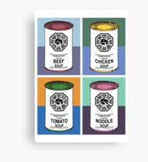 Dharma Initiative Soup Cans Canvas Print