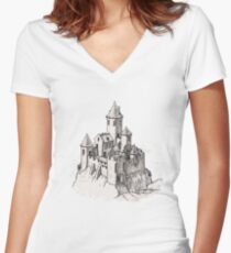 Castle Women's Fitted V-Neck T-Shirt