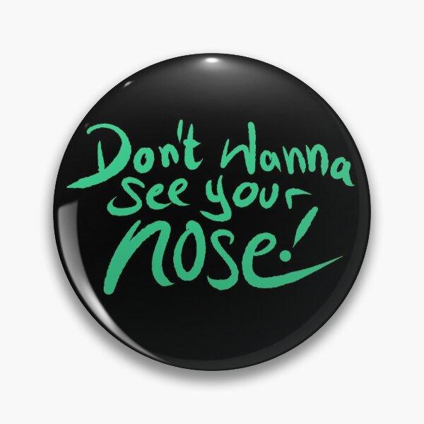 Mund und Nasen Schutz No Nose Grün Button