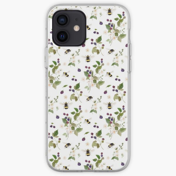 Bee Pollination Pattern iPhone Soft Case