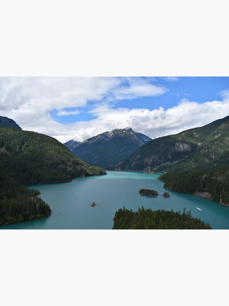 Mountains and Lake Landscape Photograph by GlitchyJellyfsh