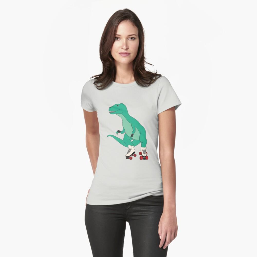 Tyrollersaurus Rex Fitted T-Shirt