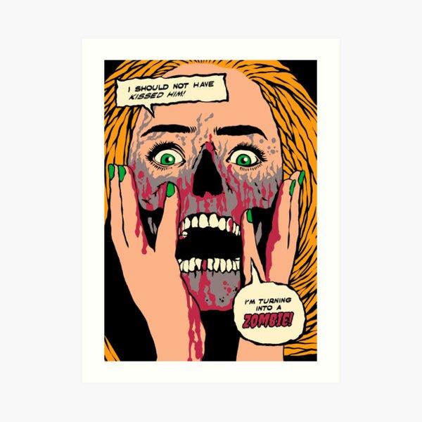 Zombie Kiss Art Print