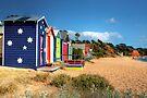 Mornington Peninsula Beach Boxes by Christine Smith