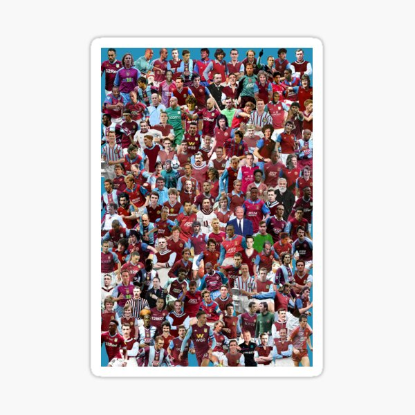 aston villa football club legends prints posters squad team Sticker