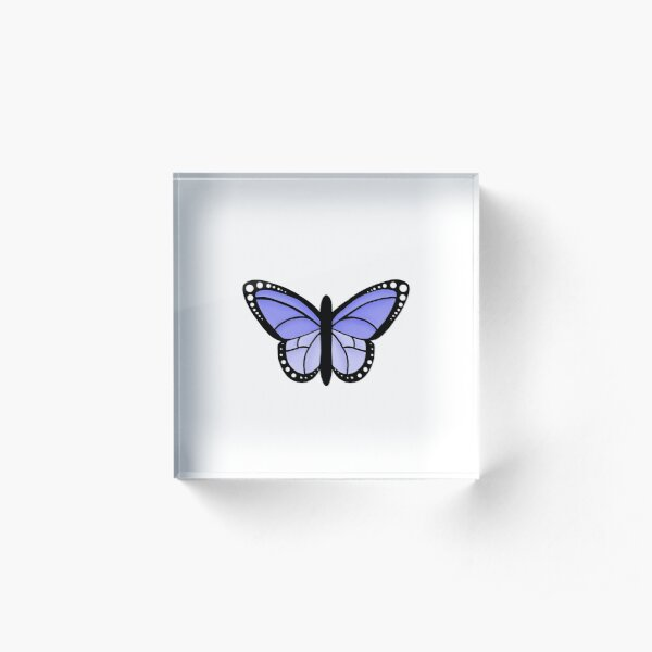 Fluttering Purple Butterfly Acrylic Block