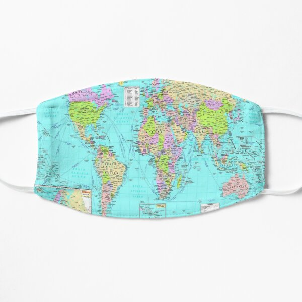 #World #Map #WorldMap Flat Mask