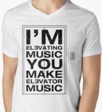 I'm Elevating Music, You Make Elevator Music (Black) Men's V-Neck T-Shirt