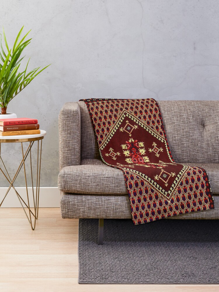 Alternate view of  beautiful design of Moroccan style Throw Blanket