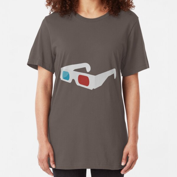 anaglyph stereographic 3D glasses Slim Fit T-Shirt