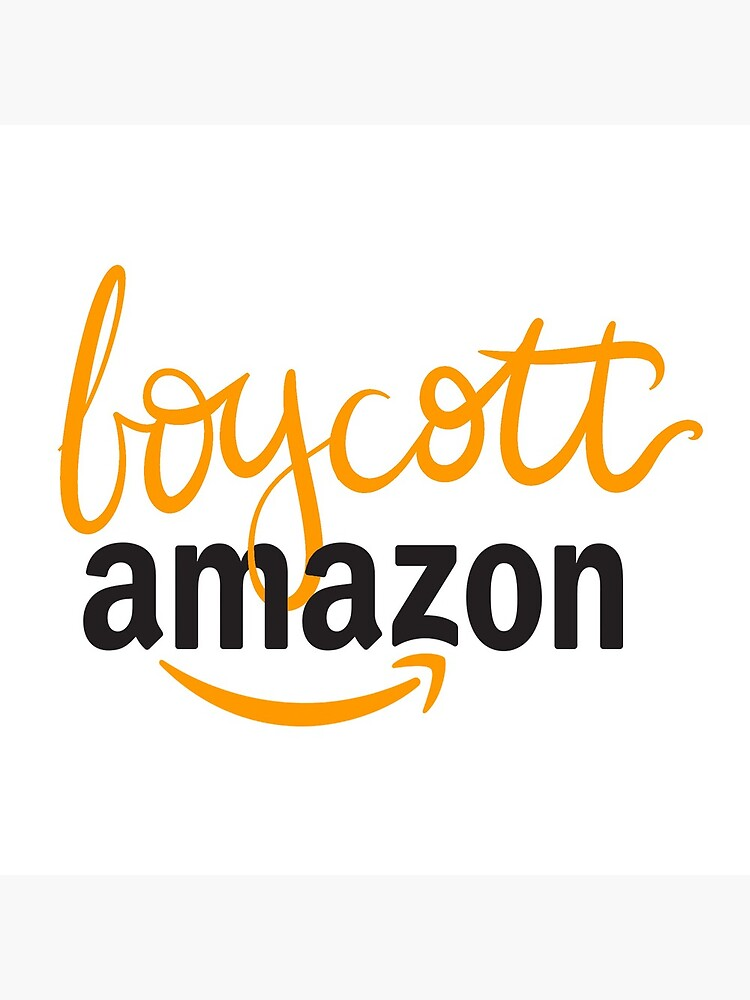 "Boycott Amazon Calligraphy Design"" Tote Bag by SnowflakeShop 
