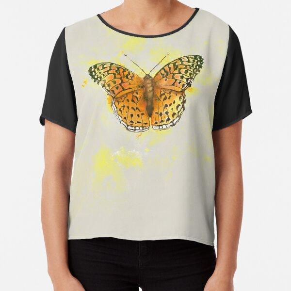 Watercolor butterfly  Chiffon Top