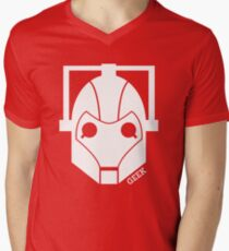 Geek Shirt #1 Cyberman (White) Men's V-Neck T-Shirt