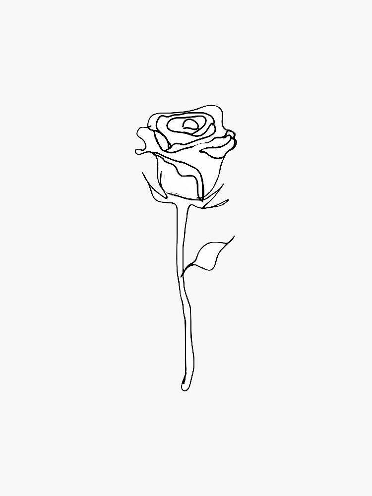 rose outline  by carlac