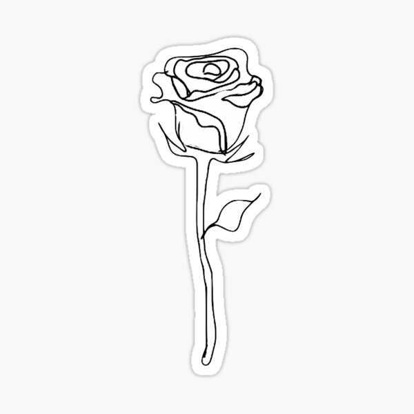 rose outline  Sticker