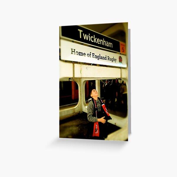 Twickenham - Home of England Rugby Greeting Card