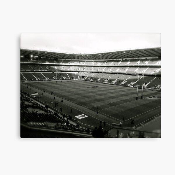 Twickenham. Black and White. Canvas Print