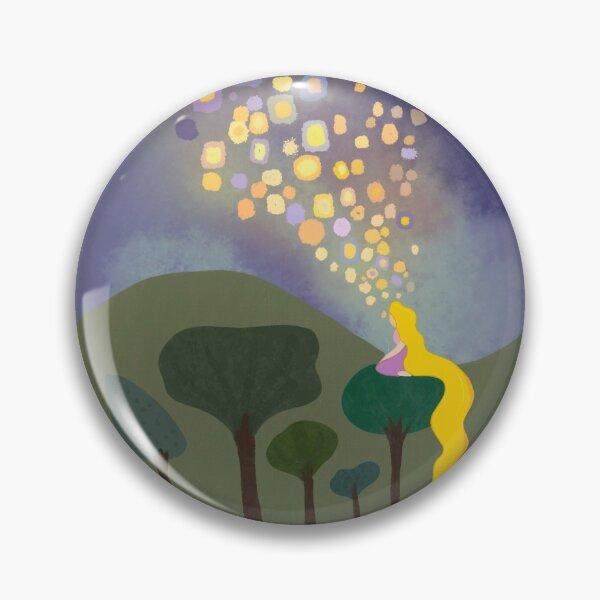 tangled floating lanterns sticker Pin
