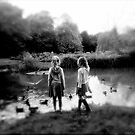 Girls. Pond by Robert Steadman