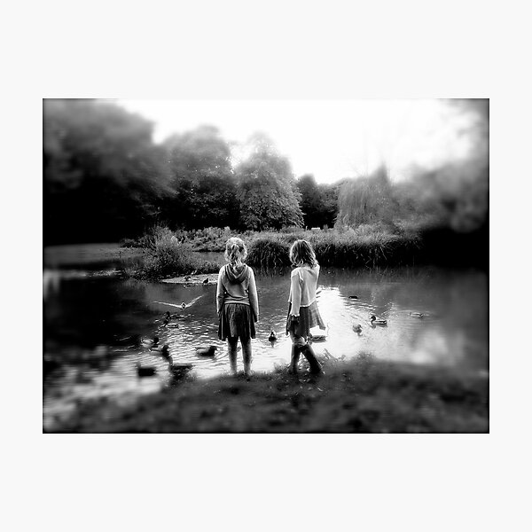 Girls. Pond Photographic Print