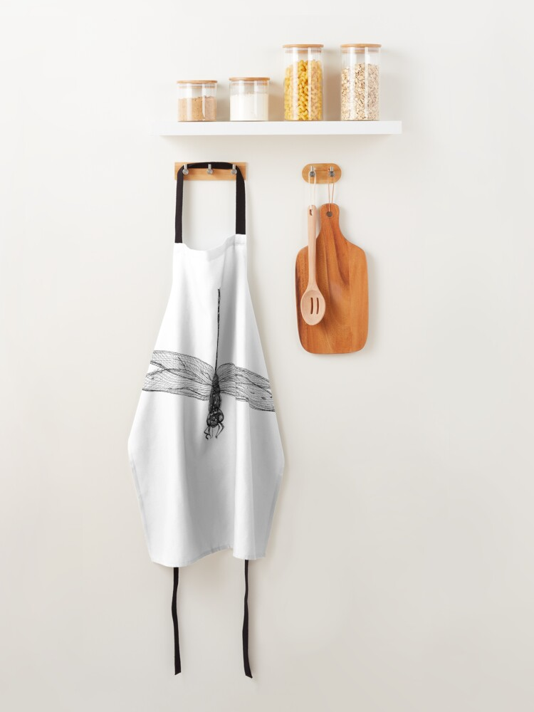 Alternate view of Marie the Dragonfly  Apron