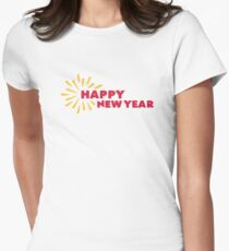 Happy New Year fireworks Women's Fitted T-Shirt