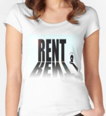 High rent, small income Women's Fitted Scoop T-Shirt